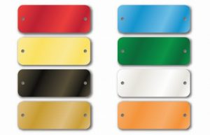 Aluminum Colored Tags